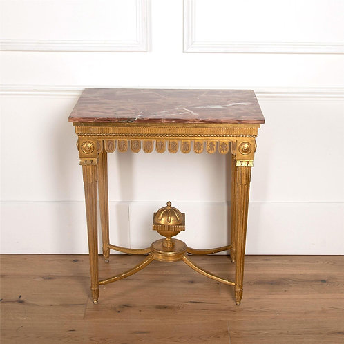 A Stylish late C18th Continental Giltwood Console Table