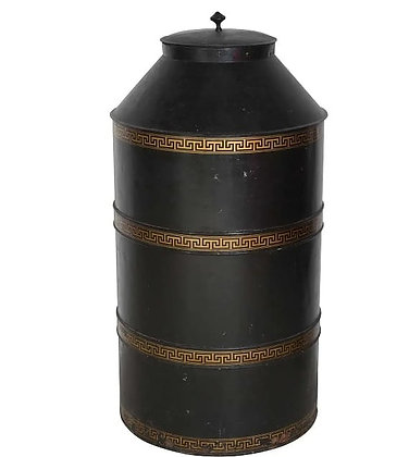 A Monumental C20th decorated Tole Advertising Tea Canister