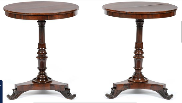 C19th pair of occasional tables