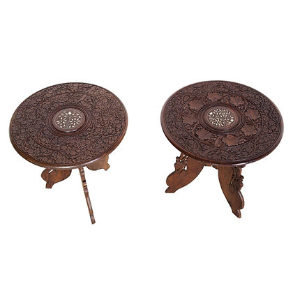 C20th Pair of Indian Low Occasional Tables