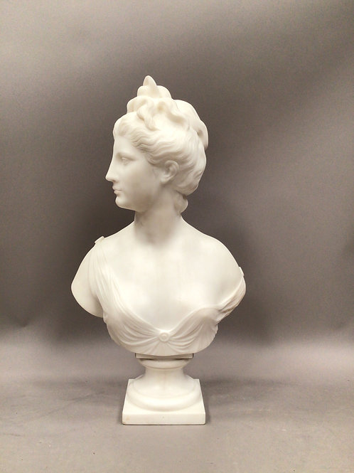 19th Century Grand Tour Marble bust of Diana
