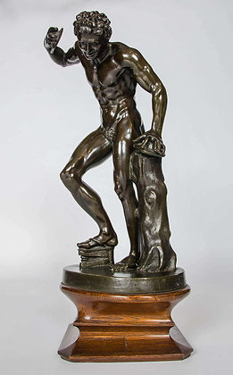 C19th `Barbedienne` Grand Tour bronze  of dancing fawn