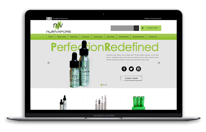 Nutrivapors is a premium vapor juice company established in 2012, at the height of the E-Cigarette breakthrough. Nutrivapors specializes in organic vape juice collections with fruit-based taste profiles made with organic extracts and a premium smooth flavor unparalleled to their competition. NutriVapors provides alternative smokeless tobacco solutions for those trying to limit or quit unhealthy cigarette consumption.
