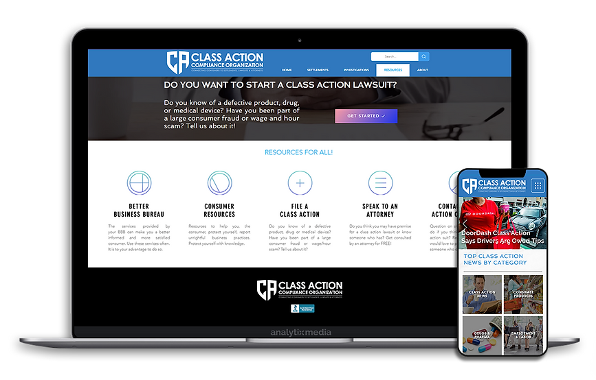 Class Action Compliance is a resource tool that provides comprehensive lawsuit information, broadcasts the latest class action news, and connects users with attorneys who can provide assistance for them.