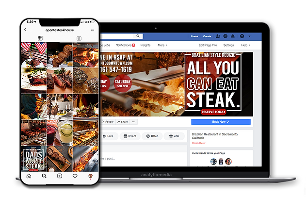 How we helped an upscale Brazilian Steakhouse develop a new approach to increase paid and organic social reach that converts into paying customers.