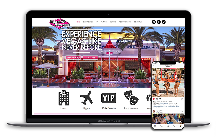 Vegas Girl Trips is a centralized hub for all your Vegas needs! From discount hotel rates to party packages, they help girl groups set up everything from start to finish. After establishing themselves in Las Vegas in 2012, Vegas Girl Trips quickly became one of the most popular and well-respected hosting agencies and concierge services on the Las Vegas Strip. By focusing on creating well-designed and highly enjoyable entertainment experiences, they have maintained an unparalleled reputation for quality since their inception.