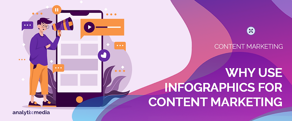 Benefits of using infographics for content marketing.