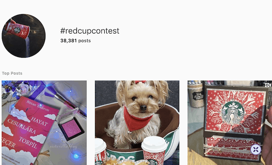 To date, this campaign has garnered over 30,000 photos of red cups and still counting.