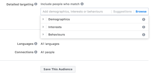 To assist you to maximize each ad, Facebook offers niche and specific methods to identify your audience. You can define a Facebook user's job title, life events, interests and behavior to narrow down who views your ad, enabling you to select an audience that will more likely react to and engage with your ads.