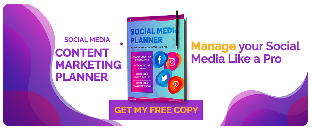 Download free printable social media content marketing planner.