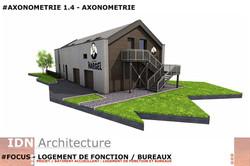 0F-2018.03.20-LOGT DE FONCTION ET BUREAU-AXONOMETRIE 1.4-IDN ARCHITECTURE