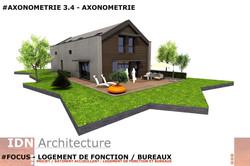 0H-2018.03.20-LOGT DE FONCTION ET BUREAU-AXONOMETRIE 3.4-IDN ARCHITECTURE
