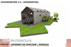 0I-2018.03.20-LOGT DE FONCTION ET BUREAU-AXONOMETRIE 4.4-IDN ARCHITECTURE