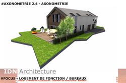0G-2018.03.20-LOGT DE FONCTION ET BUREAU-AXONOMETRIE 2.4-IDN ARCHITECTURE