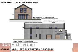 0D-2018.03.20-LOGT DE FONCTION ET BUREAU-FACADES 1.2-IDN ARCHITECTURE