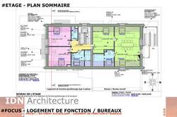 0B-2018.03.20-LOGT DE FONCTION ET BUREAU-ETAGE-IDN ARCHITECTURE