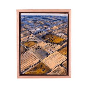 'Blue Patchwork', 12 x 22 cm