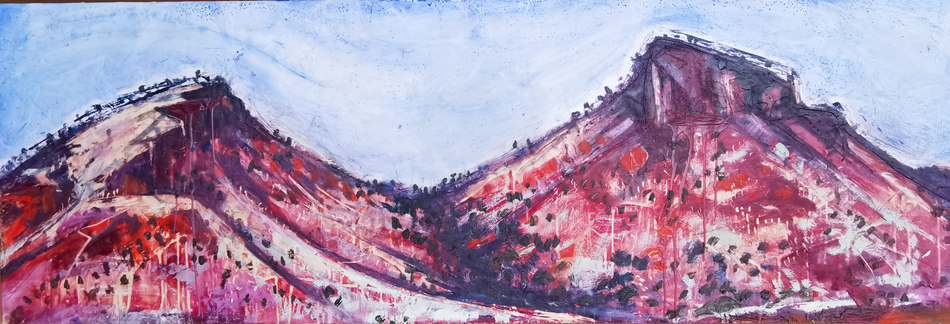 Hillside With Pink Hue (AVAILABLE)