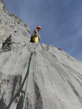Grande voie escalade, Tours d'areu, Haute-savoie 74, Grimp'itude
