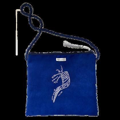 Ramshoorn tas - Saffier Blauw