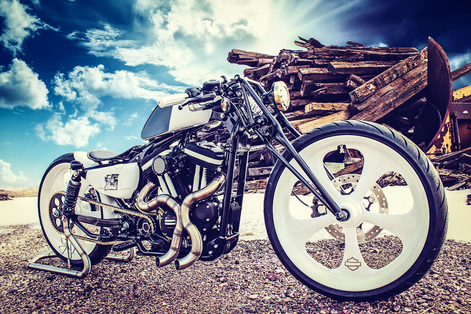 Stylized Motorcycle Photography