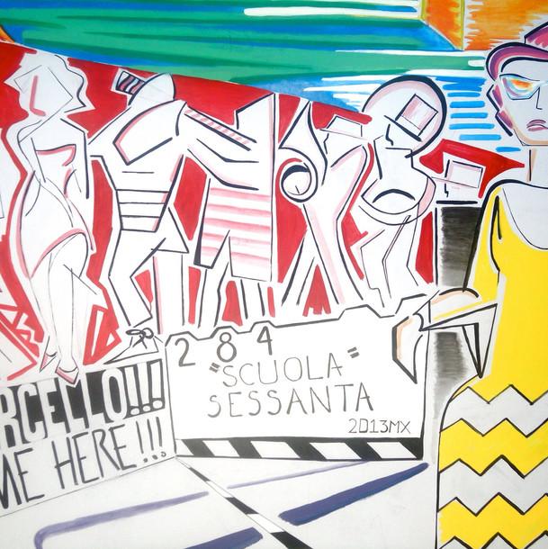 """""""Scuola 6O"""" (detail)"""