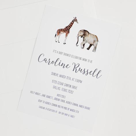 Safari Animal Invitation
