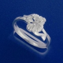 8 mm Single Hibiscus Ring