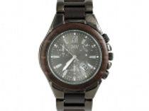 Natural Chocolate Sandalwood CZ Dial Sport Watch