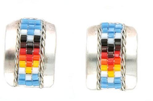 Sterling Silver Hand Beaded Earrings