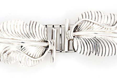 Men's Sterling Silver Feather Watch