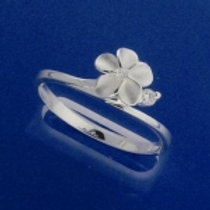 Plumeria with CZ Ring