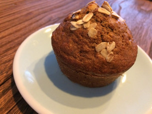 Flaxseed Chocolate Oat Muffins