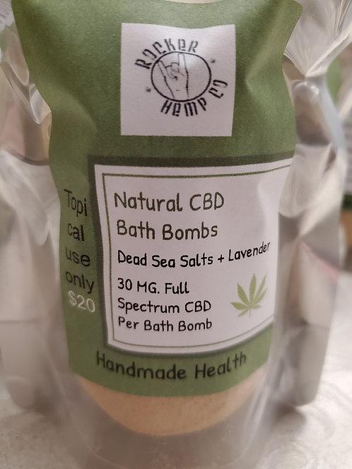 CBD + Dead Sea Salt Bath Bombs (2)