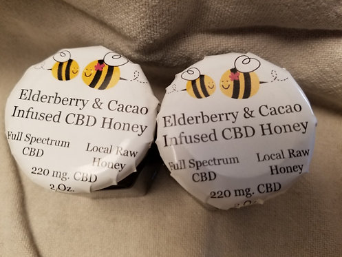 Elderberry and Cacao CBD Honey 2 oz