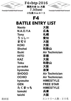 F4予選大会大阪