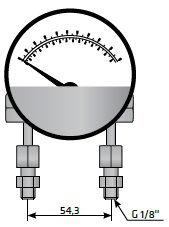 Маннометр-индикатор, датчик загрязнения фильтра сжатого воздуха высокого давления