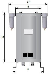 Параметры адсорбционного осушителя сжатого воздуха
