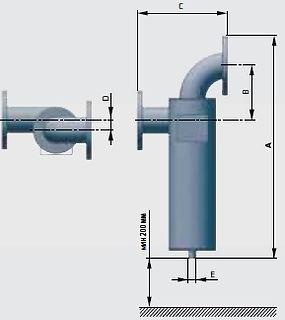 сепаратор  сжатого воздуха размеры