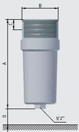 Влагоотделитель компрессора высокого давления, размеры