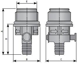Ручной конденсатоотводчик пластиковый