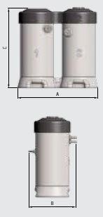 Водо-масляный сепаратор, размеры