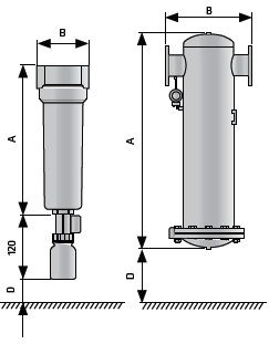 Размеры фильтров для медицинских вакуумных насосов