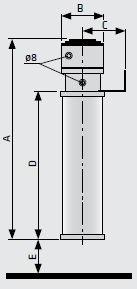 Водо-масляный сепаратор WOSm: размеры
