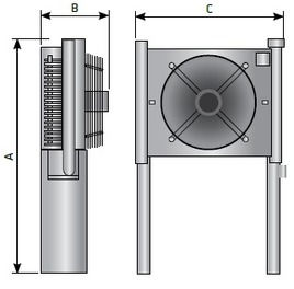 Охладитель сжатого воздуха размеры