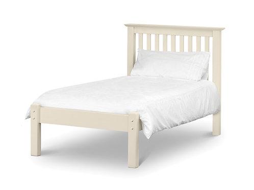 Barcelona Low Foot White 3ft Bedframe