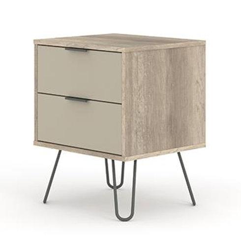 Georgia Industrial Driftwood 2 drawer bedside