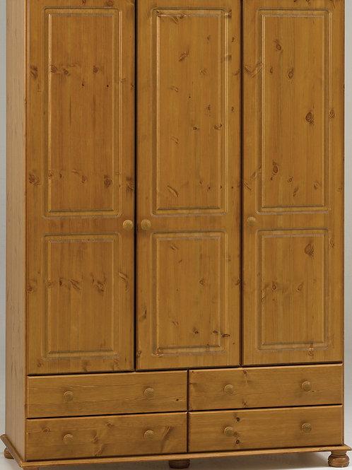 Richmond Pine 3 Door 4 Drawer Robe