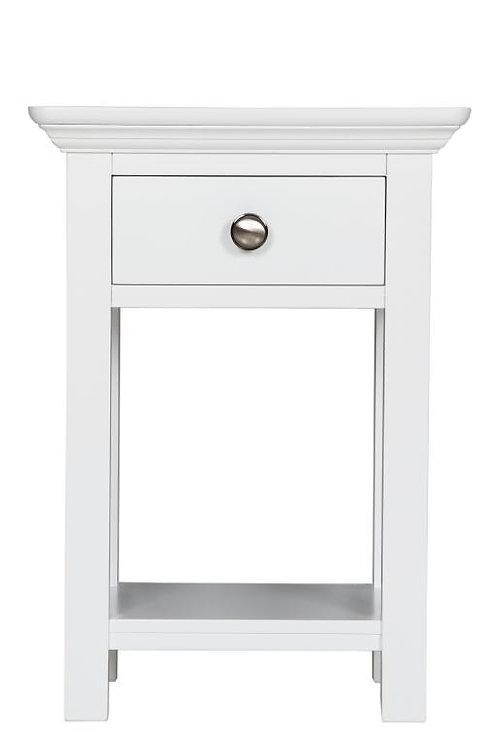 Elegance White 1 Drawer Bedside