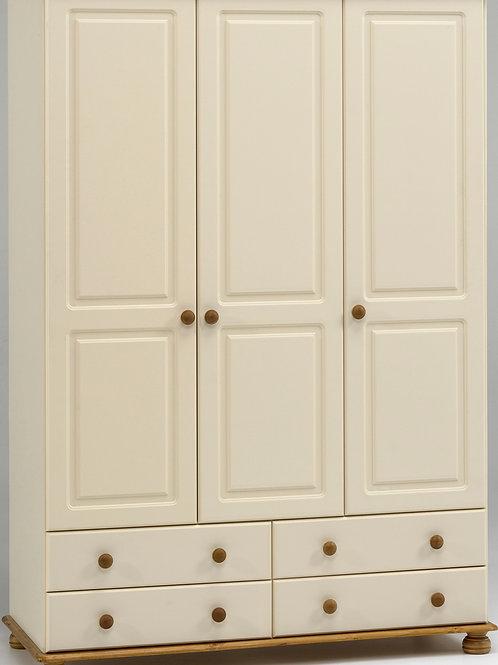 Richmond Cream 3 Door 4 Drawer Robe